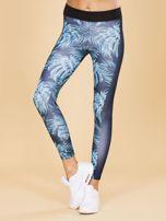 Granatowe legginsy we wzory                                  zdj.                                  1