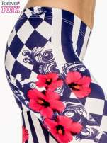 Granatowe legginsy z nadrukiem mix patterns                                  zdj.                                  6