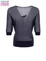 Granatowy ażurowy sweter oversize                                  zdj.                                  8