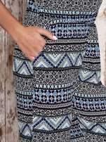 Granatowy letni kombinezon w azteckie wzory z suwakiem                                  zdj.                                  6