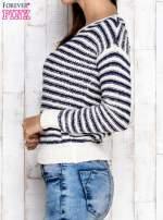 Granatowy sweter w paski                                  zdj.                                  3