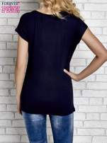 Granatowy t-shirt z napisem I AM CHOCOHOLIC BABY                                                                          zdj.                                                                         4