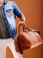 Jasnobrązowa skórzana męska torba podróżna                                  zdj.                                  8