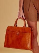 Jasnobrązowa torba damska ze skóry w miejskim stylu                                  zdj.                                  1