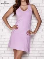 Jasnofioletowa trapezowa sukienka sportowa                                   zdj.                                  1