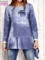 Jasnoniebieska asymetryczna tunika                                  zdj.                                  1