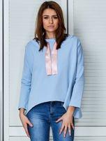 Jasnoniebieska bluza z kapturem i wstążką                                  zdj.                                  1