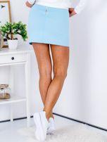 Jasnoniebieska dresowa spódnica mini                                  zdj.                                  2