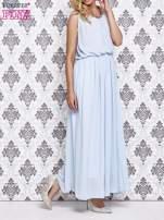 Jasnoniebieska sukienka maxi z łańcuchem przy dekolcie                                  zdj.                                  3