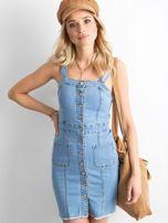 Jasnoniebieska sukienka z denimu                                  zdj.                                  3
