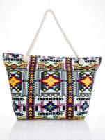 Jasnoniebieska torba plażowa w azteckie wzory                                  zdj.                                  5