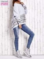 Jasnoniebieski włochaty sweter oversize z kolorową nitką                                   zdj.                                  8