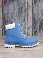 Jasnoniebieskie buty trekkingowe damskie Amina traperki ocieplane                                  zdj.                                  2