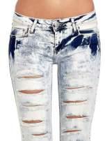 Jasnoniebieskie spodnie jeasnowe dzwony cut out                                  zdj.                                  5