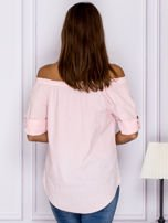 Jasnoróżowa bluzka z ozdobnymi guzikami                                  zdj.                                  2