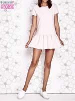 Jasnoróżowa dresowa sukienka z wycięciem na plecach                                   zdj.                                  6