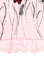 Jasnoróżowa tunika dla dziewczynki z motywem łąki                                  zdj.                                  4