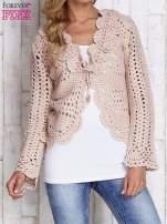 Jasnoróżowy sweter z wiązaniem                                                                          zdj.                                                                         1