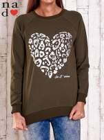 Ecru bluza z nadrukiem serca i napisem JE T'AIME                                                                           zdj.                                                                         1