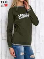Khaki bluza z napisem ŁOBUZIARA                                                                          zdj.                                                                         3