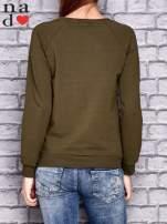 Khaki bluza z napisem LOVE                                  zdj.                                  4