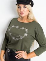 Khaki bluzka plus size Feelings                                  zdj.                                  4