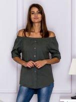 Khaki bluzka z ozdobnymi guzikami                                  zdj.                                  1