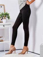 Khaki dopasowane spodnie high waist                                  zdj.                                  3