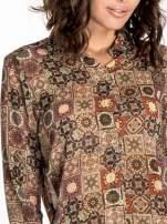 Khaki koszula w kwiatowe ornamenty                                  zdj.                                  6