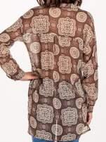Khaki koszula w ornamenty kwiatowe                                  zdj.                                  5