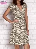 Khaki wiązana sukienka w militarnym stylu Funk n Soul                                  zdj.                                  1