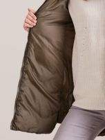 Khaki zimowa kurtka z futrzanym wykończeniem                                  zdj.                                  8