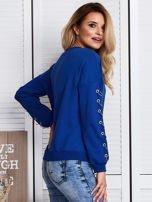 Kobaltowa bluza z kółeczkami                                  zdj.                                  3