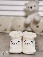 Komplet bucików dziecięcych z naszywkami ecru-jasnoniebieski                                  zdj.                                  5