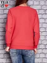 Koralowa bluza z napisem LOVE                                  zdj.                                  2