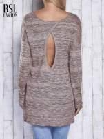 Koralowy melanżowy sweter z łezką na plecach                                  zdj.                                  5