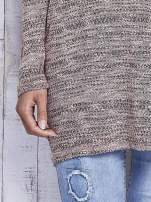 Koralowy melanżowy sweter z łezką na plecach                                                                          zdj.                                                                         7