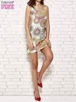 Koronkowa sukienka z kolorowymi kwiatami                                  zdj.                                  4