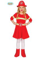 Kostium karnawałowy dla dziewczynki Strażak