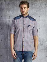 Koszula męska w drobną kolorową kratkę wielokolorowa PLUS SIZE                                  zdj.                                  6