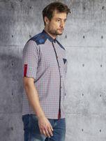 Koszula męska w drobną kolorową kratkę wielokolorowa PLUS SIZE                                  zdj.                                  5