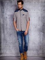 Koszula męska z denimowymi modułami PLUS SIZE                                  zdj.                                  4