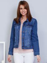 Krótka kurtka jeansowa niebieska                                   zdj.                                  1