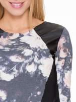 Kwiatowa sukienka modułowa z panelami ze skóry                                  zdj.                                  5