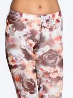 Kwiatowe elastyczne legginsy                                  zdj.                                  5