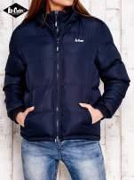 LEE COOPER Granatowa pikowana kurtka ze stójką                                  zdj.                                  1