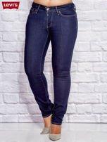 LEVIS Granatowe dopasowane jeansy PLUS SIZE                                  zdj.                                  1