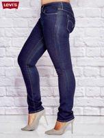 LEVIS Granatowe dopasowane jeansy PLUS SIZE                                  zdj.                                  3