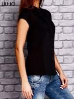 LIU JO Czarny t-shirt z guzikami                                  zdj.                                  2