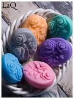 LaQ Mydełko Dwie róże - niebieski / Zapach - wata cukrowa BEZ SLS i SLES                                  zdj.                                  3